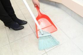 玄関や庭のお掃除